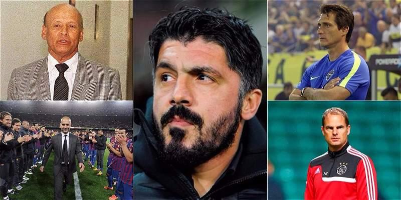 Ídolos de futbolistas y luego entrenadores