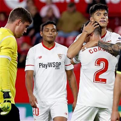 Sevilla goleó 4-0 al Cartagena y está en octavos de la Copa del Rey