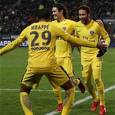 Mbappé. Neymar y Cavani