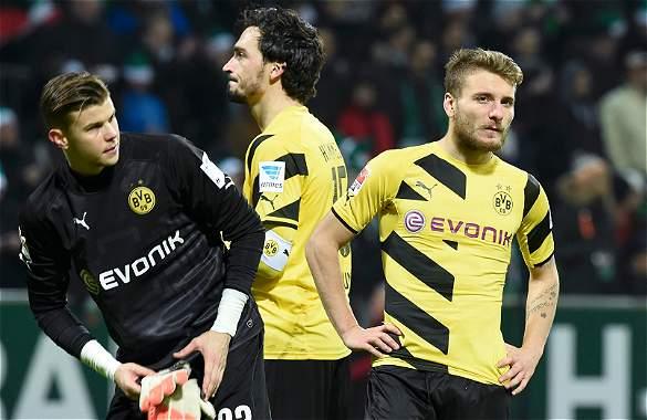 Borussia Dortmund, en una de los dos casillas del descenso.