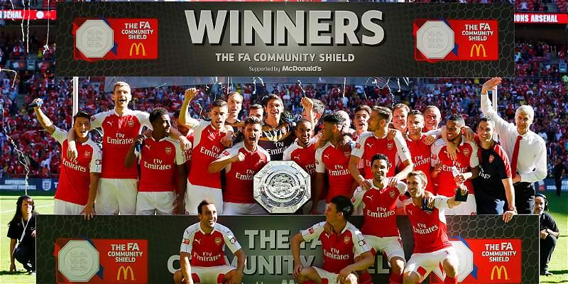 Arsenal venció 1-0 a Chelsea y revalidó título de la Community Shield