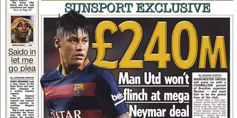 Portada The Sun Neymar