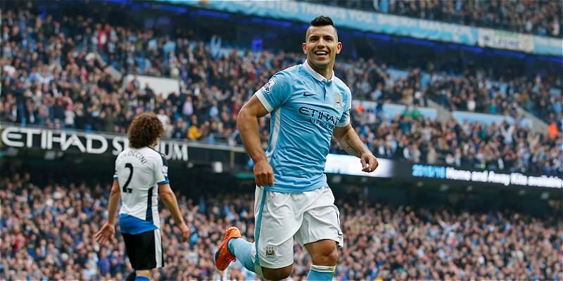 Espectacular partido del \'Kun\': cinco goles en triunfo del City