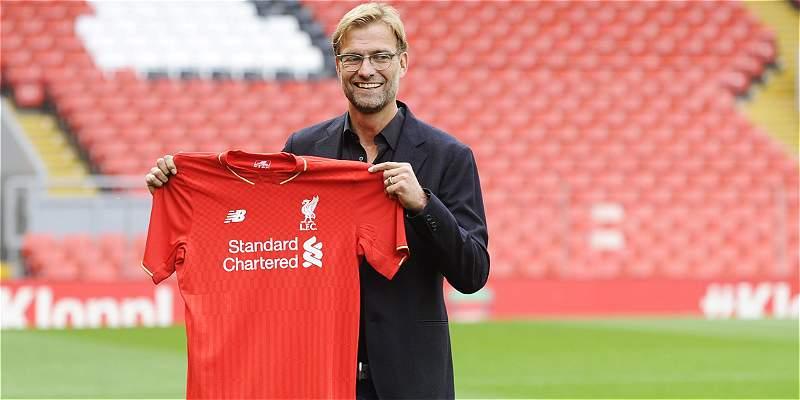 Jürgen Klopp fue presentado como nuevo entrenador del Liverpool