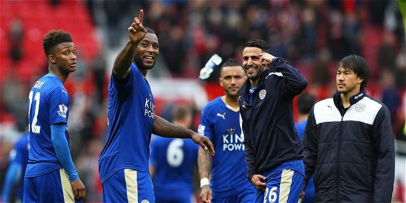 Leicester empató 1-1 con el United y aplazó la celebración del título