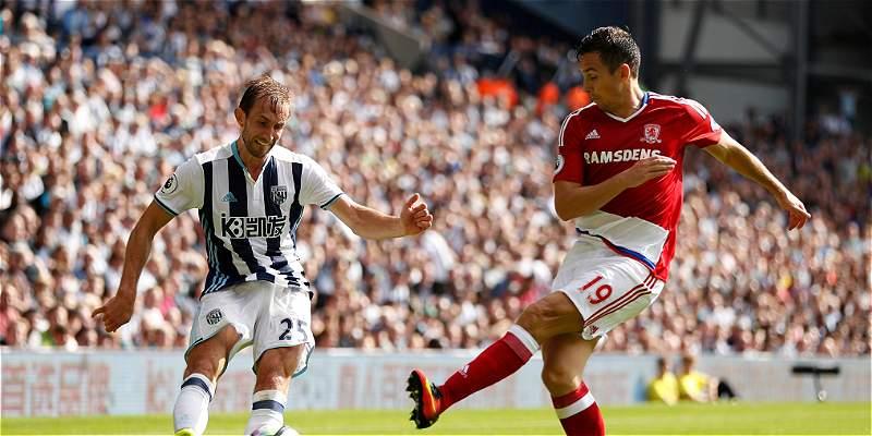 West Bromwich y Middlesbrough no pasaron del 0-0, en la Premier