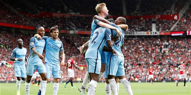 Pep Guardiola se quedó con el clásico de Mánchester: United 1-City 2