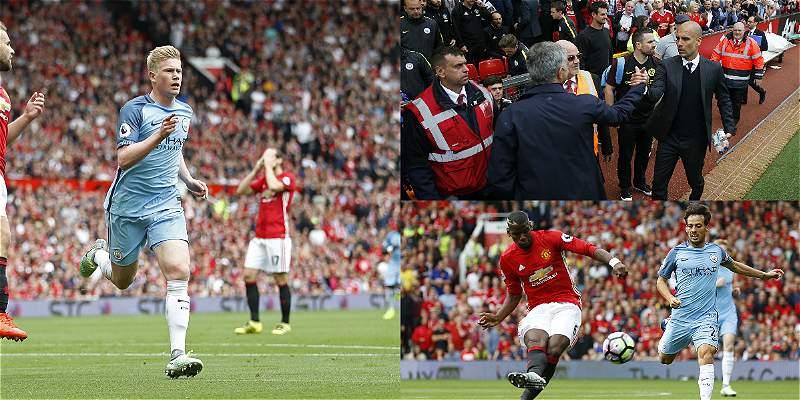 Las mejores fotos del triunfo del Manchester City sobre el United