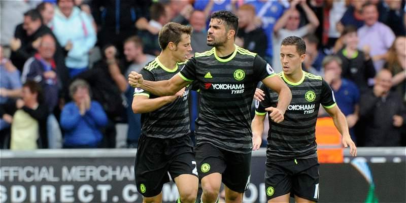 Diego Costa evitó la derrota del Chelsea: 2-2 frente al Swansea
