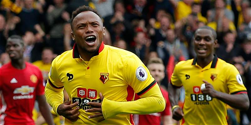 Con un gol de Camilo Zúñiga, Watford venció 3-1 a Manchester United