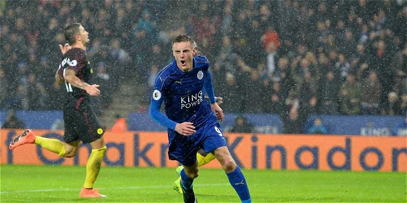 Leicester no tuvo piedad del City y lo venció 4-2, en la Premier