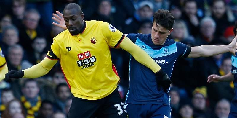 Zúñiga y Espinosa jugaron en empate 0-0 del Watford con Middlesbrough