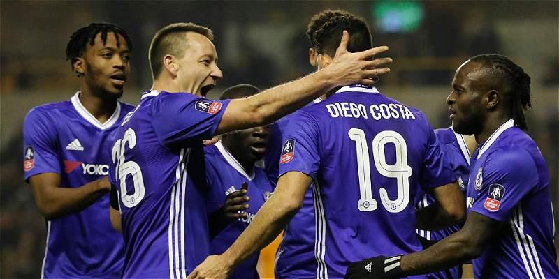 Chelsea derrotó 0-2 al Wolverhampton y está en cuartos de la FA Cup
