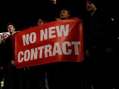 Hinchas piden salida de Wenger/Galería