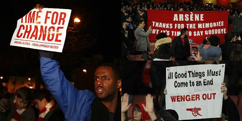 Los hinchas no soportan más a Wenger y piden su salida del Arsenal