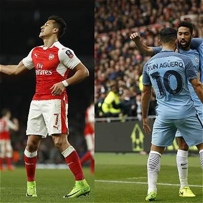 Arsenal y Manchester City ganaron y llegaron a semifinales de FA cup
