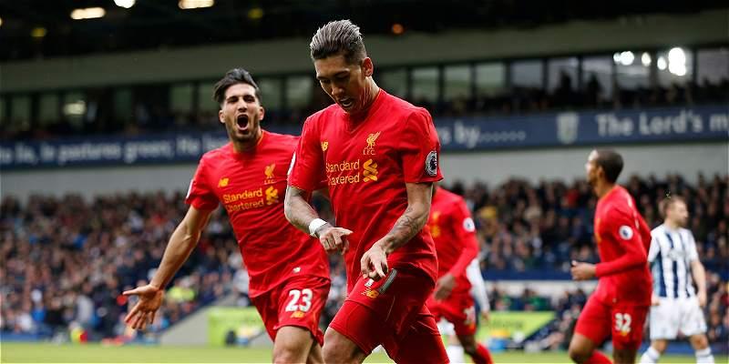 Liverpool venció 0-1 al West Bromwich y se mantiene tercero en Premier