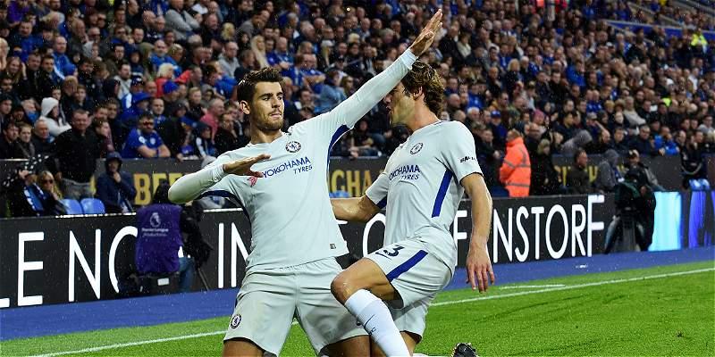 Morata lideró al Chelsea en la victoria 1-2 sobre el Leicester