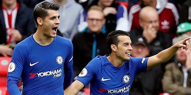 Victoria del Chelsea a la española: derrotó 0-4 al Stoke City