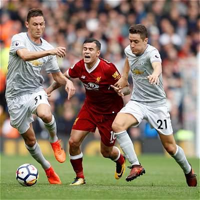 Liverpool y Manchester United empataron 0-0 en el infierno de Anfield