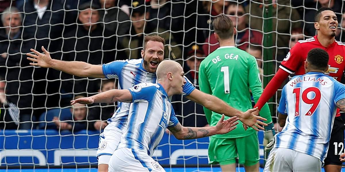 Triunfo histórico del Huddersfield Town 2-1 sobre el Manchester United