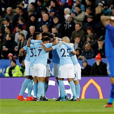 Manchester City no da tregua en la Premier y se impuso 0-2 a Leicester