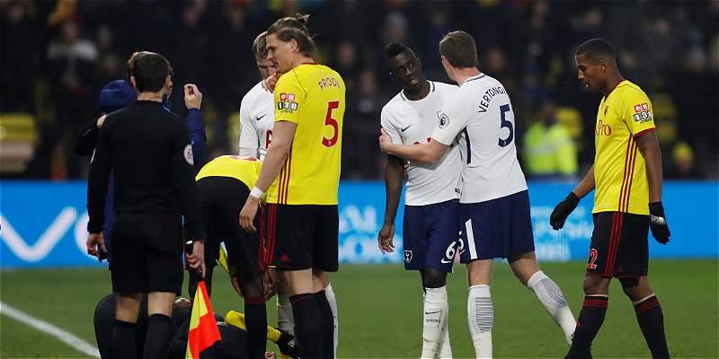 Tottenham empató 1-1 con Watford y Dávinson Sánchez fue expulsado
