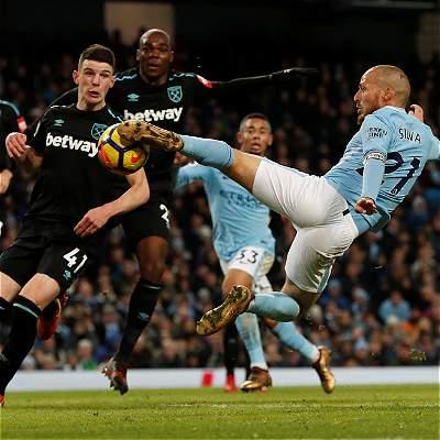 Silva marcó el 2-1 contra West Ham y alargó racha del Manchester City