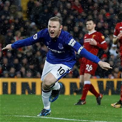 Rooney dañó la fiesta del Liverpool en el clásico: 1-1 contra Everton