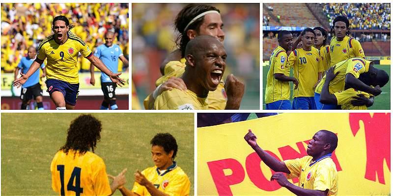 El rendimiento de Colombia desde que se juegan Eliminatorias largas