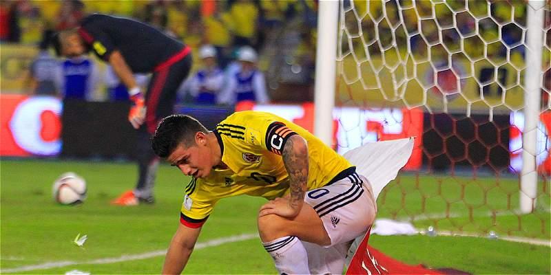 James y otro partido desaparecido con la camiseta de Colombia