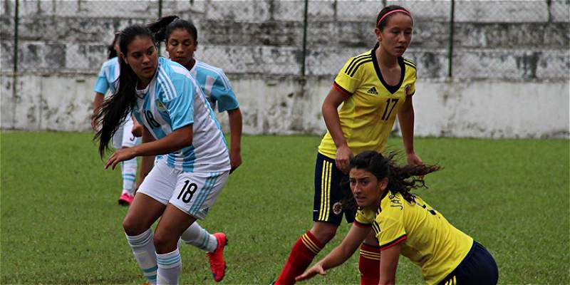 Selección Colombia femenina Sub-20 perdió 2-1 frente a Argentina