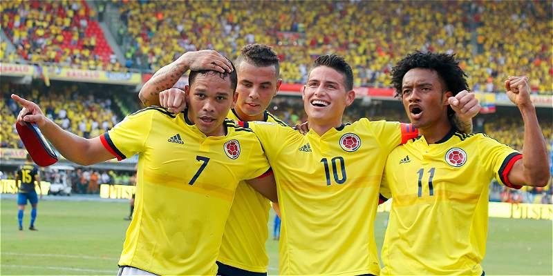 La Selección Colombia se mantuvo cuarta en la clasificación de la Fifa