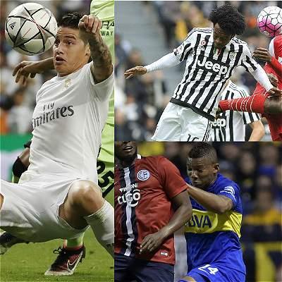 Collage jugadores Selección Colombia