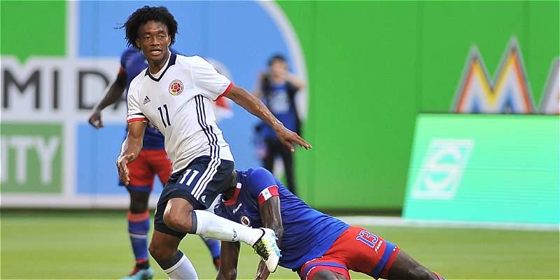 Cuadrado ratificó su talento en amistoso de Colombia contra Haití
