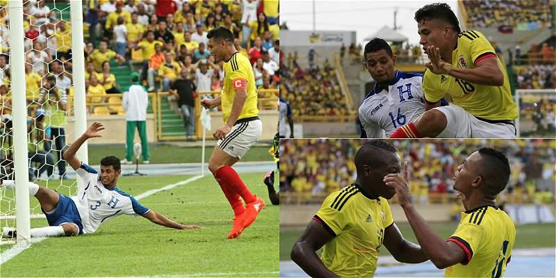 Colombia vs Honduras / Collage