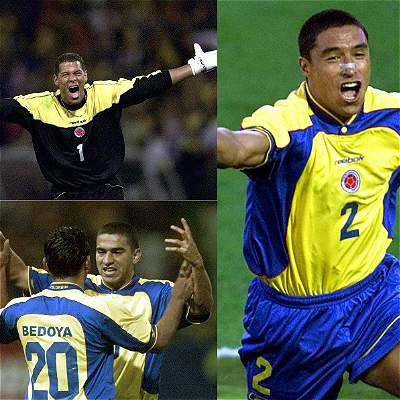 Colombia Copa América 2001 / collage
