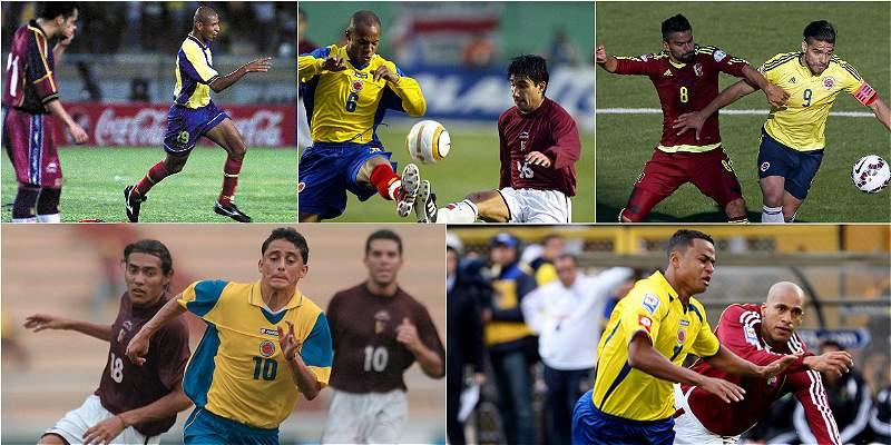 Colombia vs. Venezuela en goles