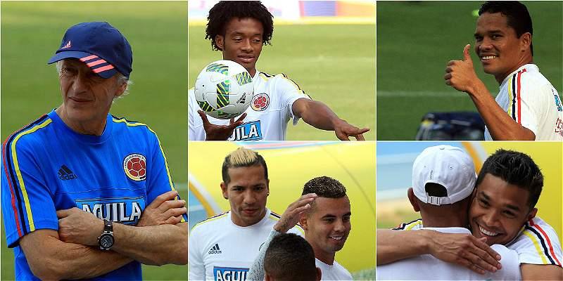 Las mejores imágenes de la Selección Colombia en el 'Metro'