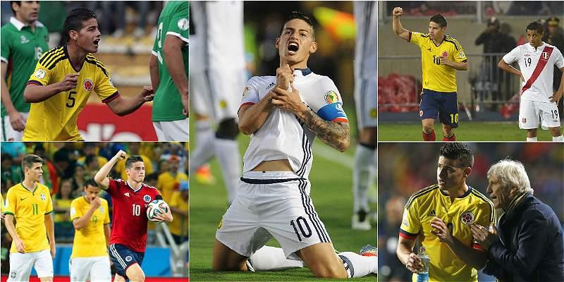 El especial juego de James contra Brasil: su partido 50 con Colombia