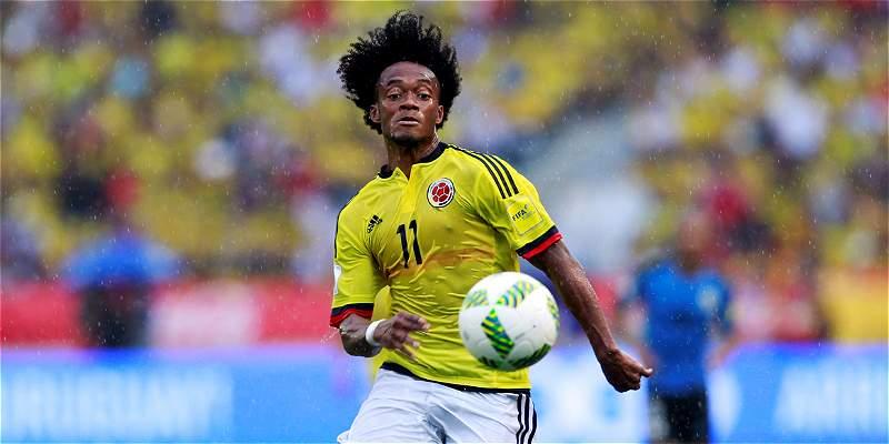 Juan G. Cuadrado se perderá el duelo contra Chile, por doble amarilla
