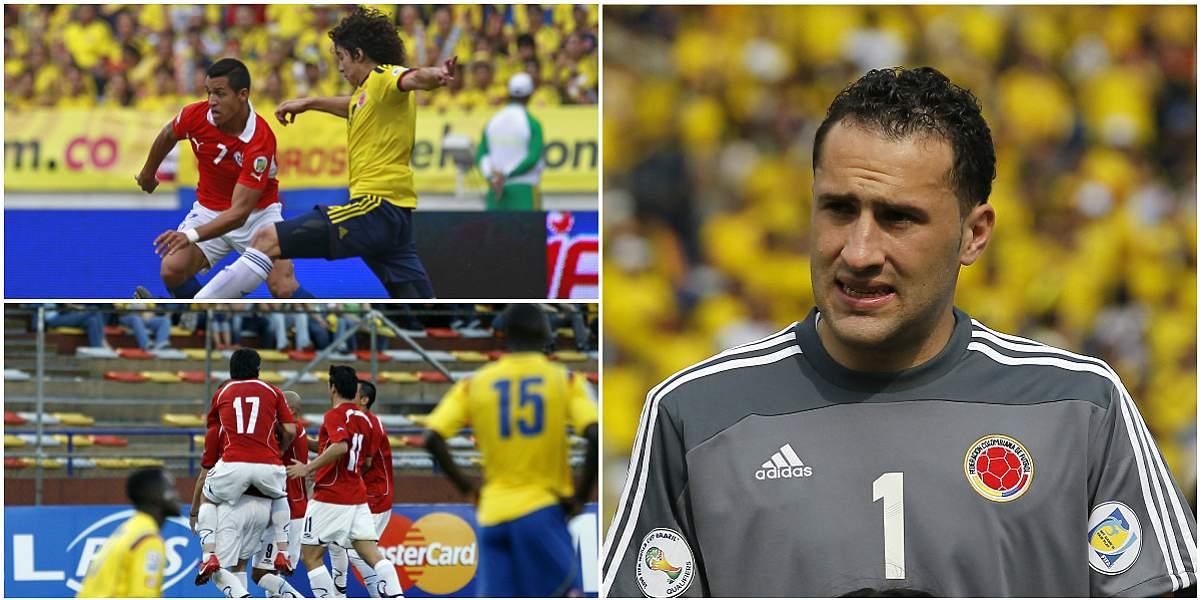 Chile, selección que más goles le ha hecho a David Ospina en casa