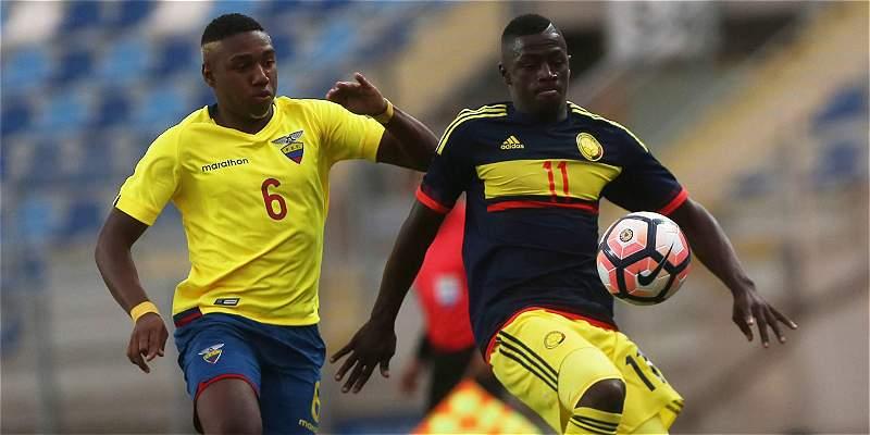 A punta de carácter, Colombia le ganó 2-1 a Ecuador en el Sub-17