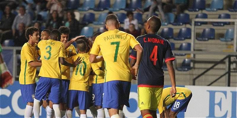 Colombia perdió con Brasil