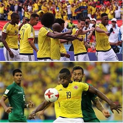 Las mejores fotos del partido entre Colombia y Bolivia, en el 'Metro'