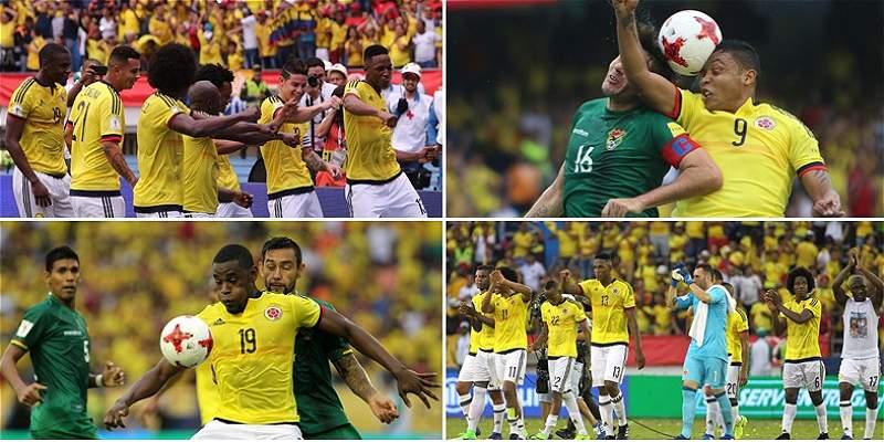 Las mejores fotos del partido entre Colombia y Bolivia, en el \'Metro\'
