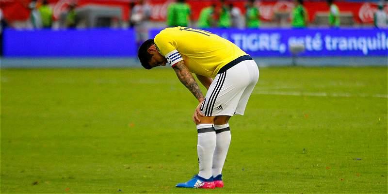 James, con luces y sombras por primera vez en la Selección Colombia