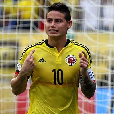 James Rodríguez, capitán de Colombia