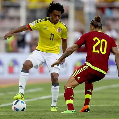 Las mejores imágenes del 0-0 entre Venezuela y Colombia en las Eliminatorias