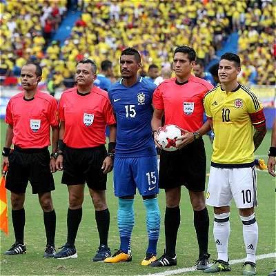 Las mejores fotografías del gran partido entre Colombia y Brasil, en Barranquilla